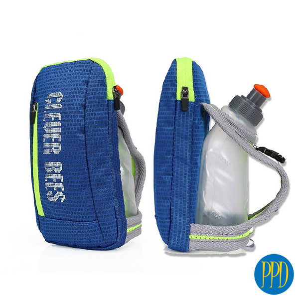 Running wallet and water bottle pack