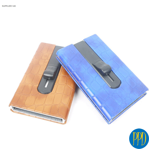 Get your business logo on a RDID blocking credit card holder for New York and New Jersey business marketers and promotional product b2b specialists.